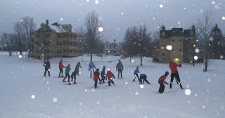 Kids play in Snowstorm