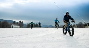 4 FatBikers on trail