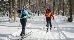 Rikert Catamount backcountry skiers